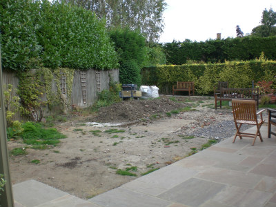 Bare in the garden